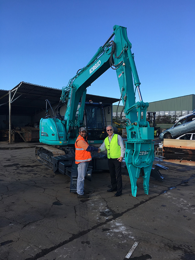 Kobelco Delivery of Recycling Excavator