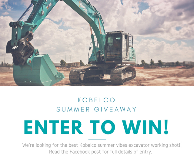 Kobelco Summer Giveaway Time!