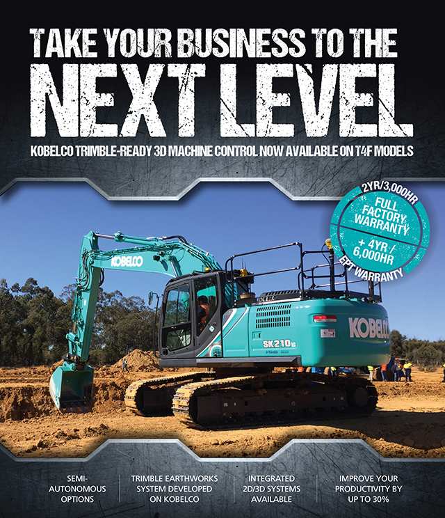 Kobelco excavators with Trimble ready 3D machine control