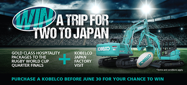 Kobelco Japan Trip for Two plus Rugby Tickets and Factory Visit Prize Draw Competition 2019 Terms and Conditions