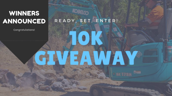 Winners of the Kobelco 10K Giveaway Comp