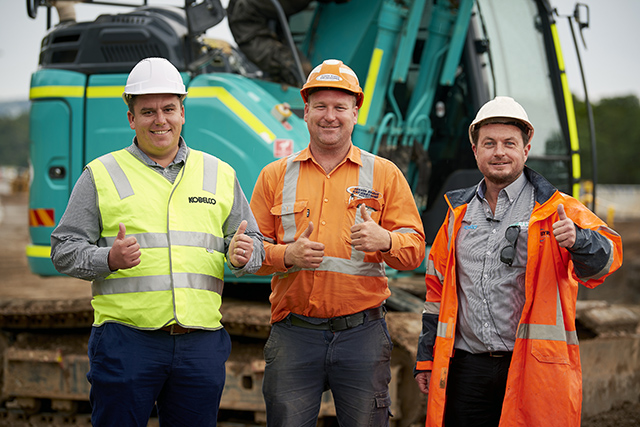 Justin Ridley Excavations and Kobelco