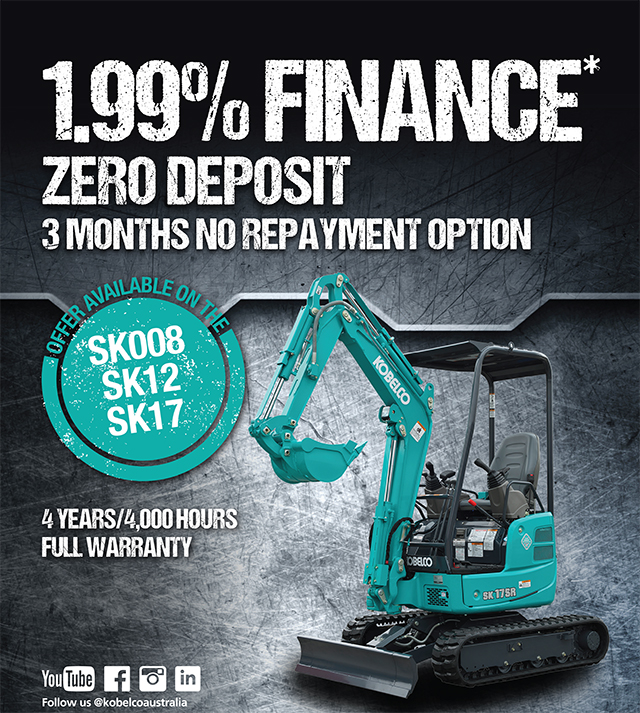 Own a Kobelco now, pay later